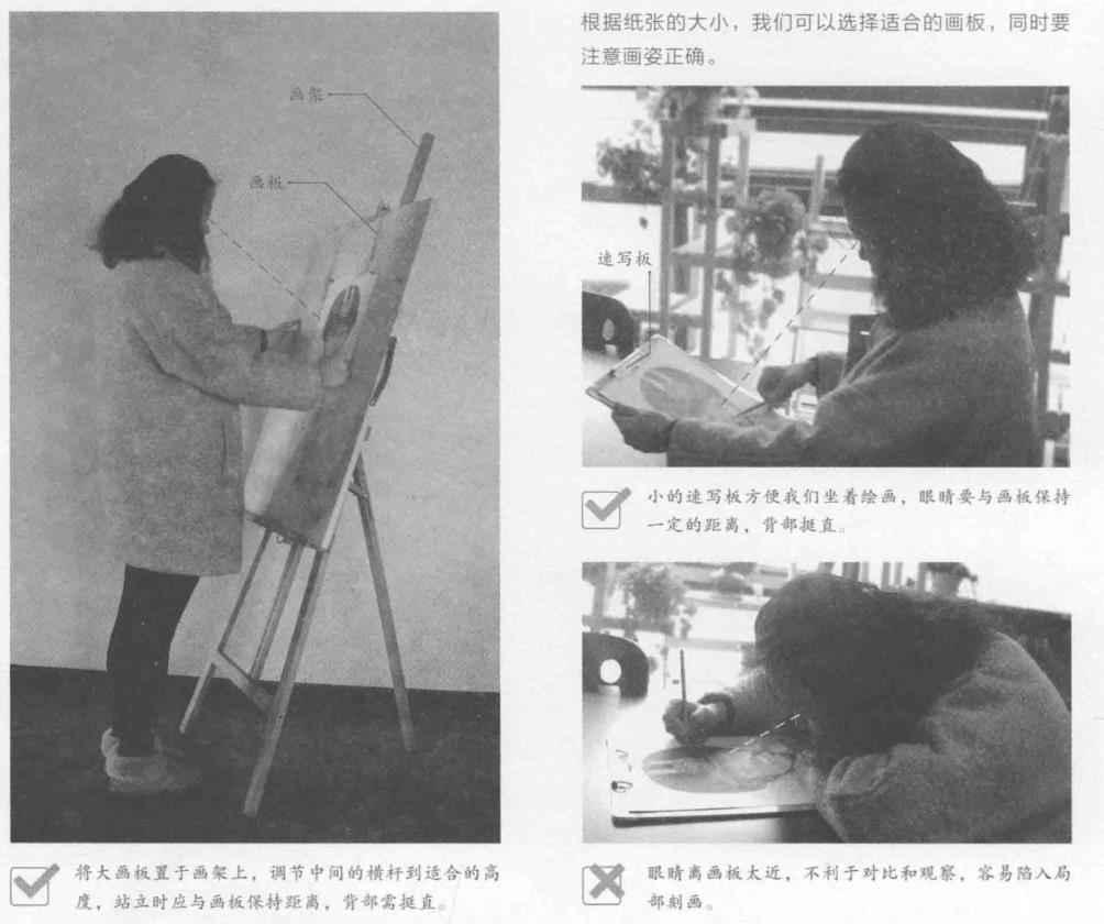 素描绘画过程中画板与画架的不同用途