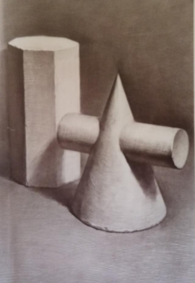 画石膏几何体的素描步骤