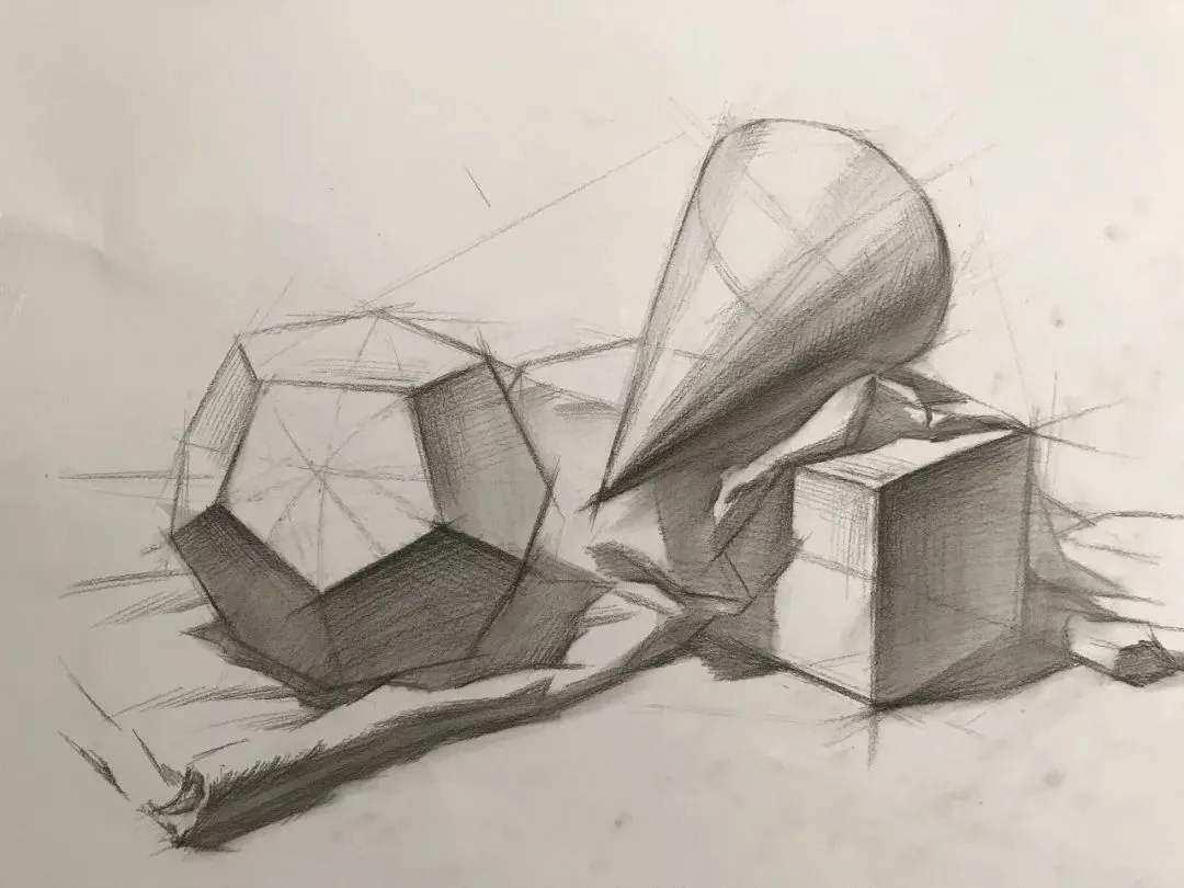 画石膏几何体组合的步骤顺序