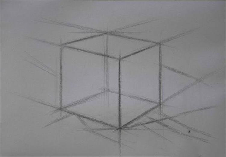 正方体的素描阴影画法步骤